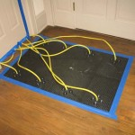 drying hardwood floors